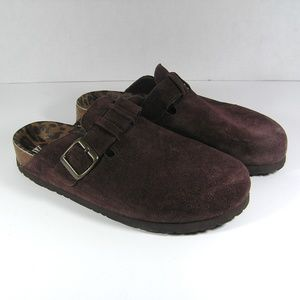 White Mountain Gracie Brown Molded Footbed Clogs 9